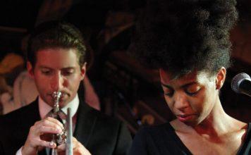 Straightahead swinging jazz J.C. Hopkins Biggish Band